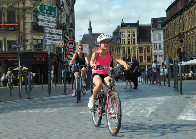 Lille en mode vélo - photo F.Vdb