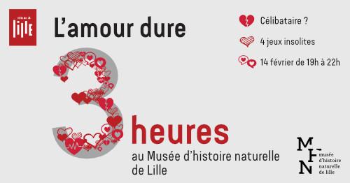 L'amour dure 3 heures au Musée d'histoire naturelle de Lille