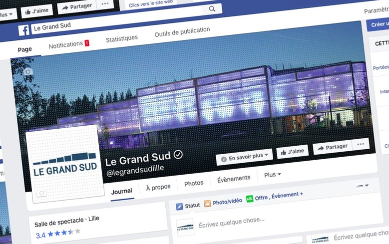Page facebook GRAND SUD